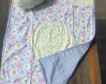 Winnie The Pooh Baby Quilt With Bee Stuffie