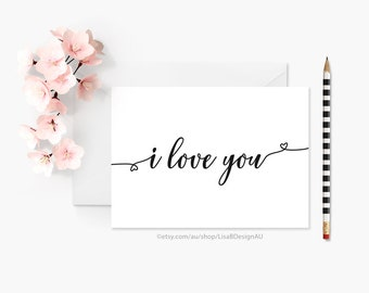 Mothers Day Card | Anniversary Card | Card for Wife | Card for Her, Card for Him | Valentines Card | I Love You | Romantic Card | GCLACA6009