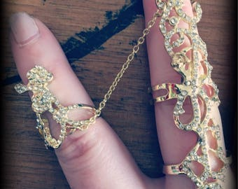Chain knuckle rings