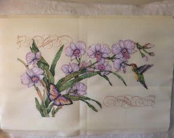Orchids & Hummingbird
