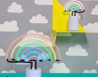 Rainbow Large Neon Table Desk Lamp Light Sunnylife