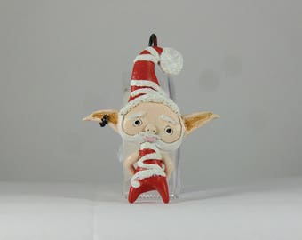 Polymer Clay Santa Ornament