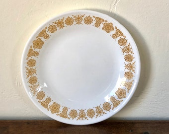 Dessert Plate / Butterfly Gold / Vintage Corelle / Pairs with Butterfly Gold Pyrex / Vintage Dinnerware