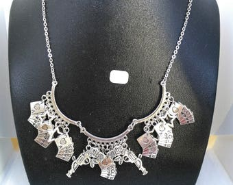 Poker western necklace