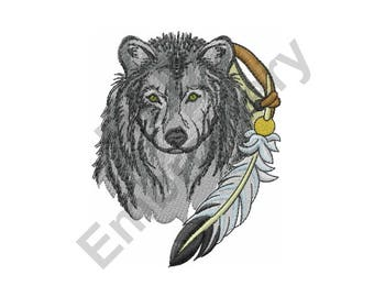 Wolf - Machine Embroidery Design