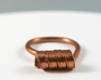 Viking ring, Spiral ring, Celtic ring, Vegan jewel, Symbol ring, Copper ring, Adjustable ring, Minimalist ring, Handmade ring, Made in Italy