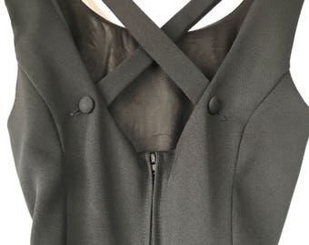 90s Skater Dress, Perfect Little Black Dress, Size 3 Size 4, Size Small