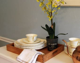 Wooden Rectangular Tray - farmhouse - french country - rustic