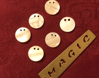 Vintage Buttons - Mother of Pearl Embellishments Set of 6