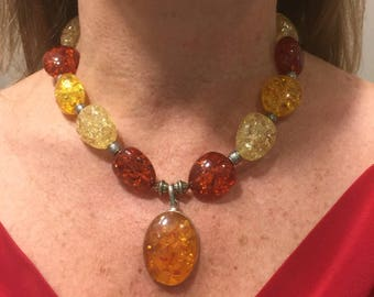 """18"""" Multi-colored Amber Necklace"""