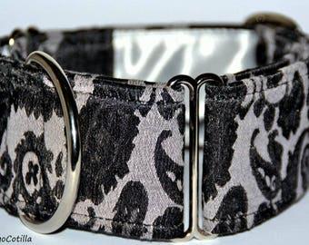 Barocco - Martingale collar for galgos, greyhound, dogs, adjustable, brocade fabric. El Galgo Cotilla