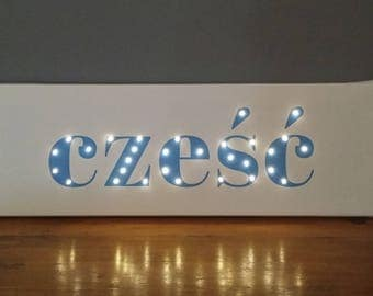 Your name, Light up sign, Light up letters, Light up name, Your words in lights, Name in lights, Name with Led, Custom marquee sign, Blue
