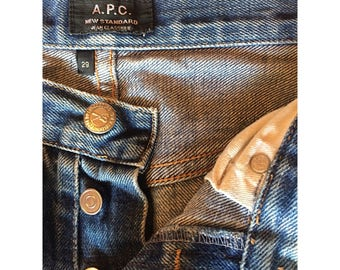 A.P.C Raw shelvedge denim jeans, button fly and super flattering cut