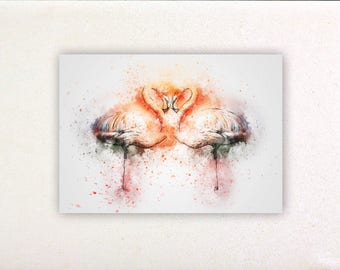 Swans - Watercolor prints, watercolor posters, nursery decor, nursery wall art, wall decor, wall prints | Tropparoba - 100% made in Italy