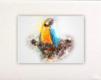 Parrot - Watercolor prints, watercolor posters, nursery decor, nursery wall art, wall decor, wall prints | Tropparoba 100% made Italy