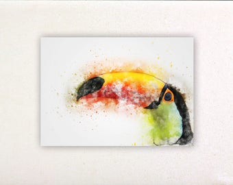 Toucan - Watercolor prints, watercolor posters, nursery decor, nursery wall art, wall decor, wall prints | Tropparoba - 100% made in Italy