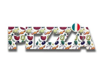 Pizza - Pizza sign, shop sign, wall signs, food signs, signs kitchen, pizza restaurant decor, pizza signs | Tropparoba - 100% made in Italy