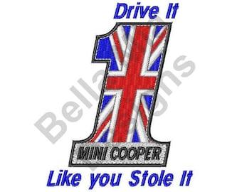 Mini Cooper Saying - Machine Embroidery Design