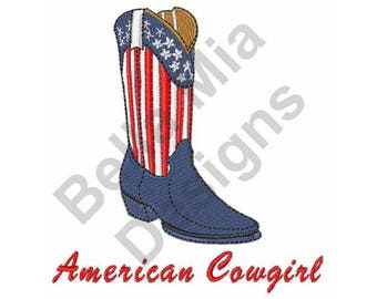 American Cowgirl Boot - Machine Embroidery Design