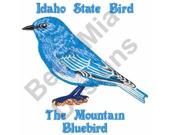 Bird - Machine Embroidery Design, Bluebird, Idaho State Bird, Mountain Bluebird