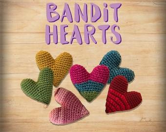 Crochet Amigurumi Bandit Hearts