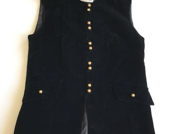 Fabulous 60s Vintage Jebbi Of California Velvet Vest