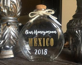 Personalized Honeymoon Sand Keepsake Bottle