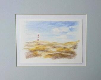 Lighthouse on Amrum, North Sea