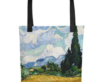 Vincent van Gogh, Wheat Field with Cypresses - Tote bag