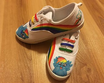 My little pony Shoes/Rainbow Dash shoes/ Kids Shoes/Girls Shoes