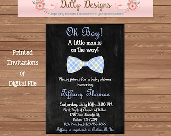 Oh Boy Baby Shower Invitation, Oh Boy Baby Shower Invite, Boy Baby Shower Invitation, Boy Baby Shower Invite, Boy Baby Shower Invite