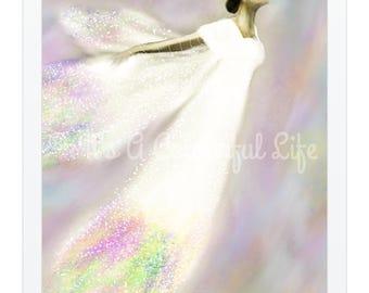 Colourful Angel Original Art Print