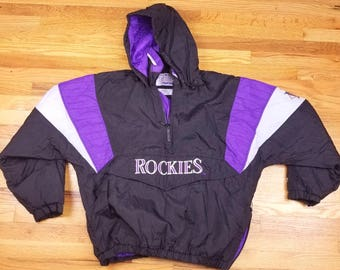 VIntage 90s Colorado Rockies Starter Jacket Size Large L