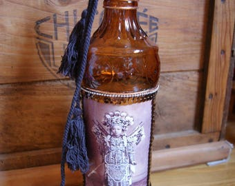Brown decorative bottle