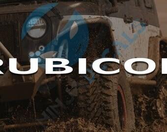 2X Jeep Rubicon Replacement Hood Vinyl Decal Sticker (car/truck laptop/netbook window yeti)