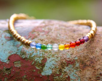 Rainbow - beaded bracelet