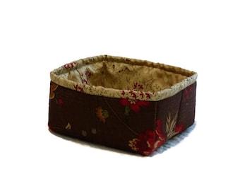 Small Brown Fabric Bin