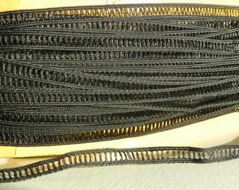 Lace trim black color width 0.6 cm