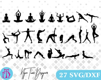 Yoga svg,dxf for Design,Silhouette,Cricut and any more