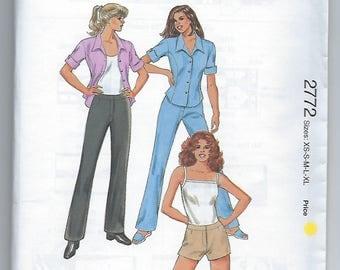Kwik Sew 2772 - MISSES Pants, Shorts and Shirt / Sizes XS, S, M, L XL