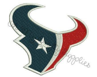 Texans Embroidery Design