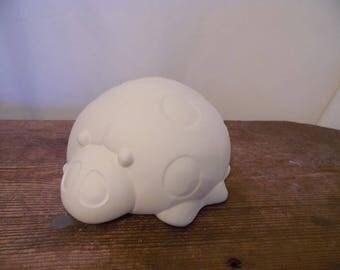 Ceramic Bisque Ready to Paint Garden Ladybug