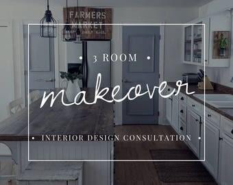 Interior Design Consultation - Three Rooms