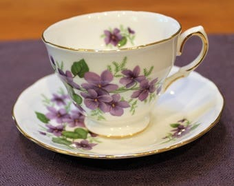 Royal Vale English Bone China Teacup and Saucer