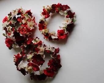 flower crown headband red floral