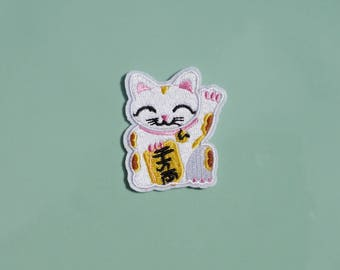Japanese Lucky Cat | Iron on Patch