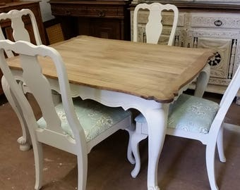 Set of 4 French Style Chairs