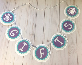 Winter Onderland Gift Table Banner