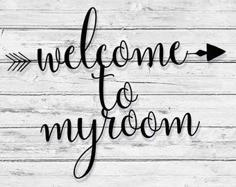 """Welcome Metal Wall Sign Art, Home Decor Gift  18.5''x14"""" Wood,vein,color options"""
