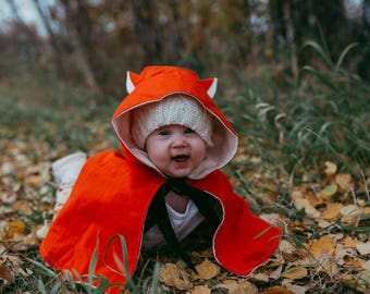 fox kids halloween costume cape baby boy infant girl costume fox ears fox tail animal dress